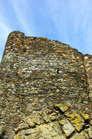 fortifying: Detail of a castle wall