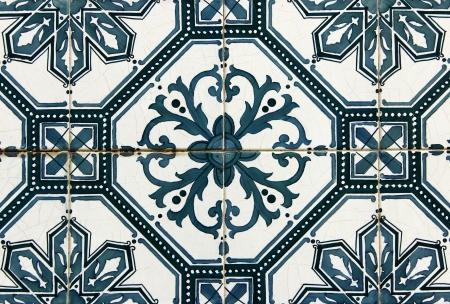 Azulejos, portuguese tiles Stock Photo