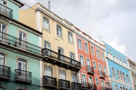 Detail of some old buildings at Lisbon, Portugal Stock Photo - 17950319
