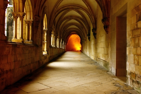 Alcobaca Monastery cloister, Alcobaca, Portugal Stock Photo