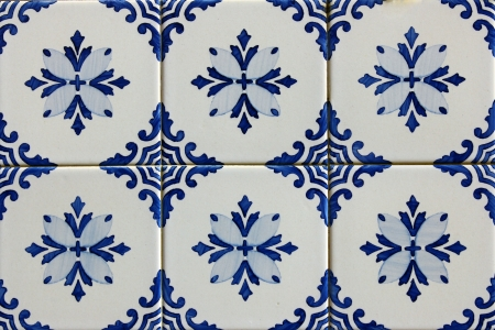 Azulejos, portuguese tiles Stock Photo