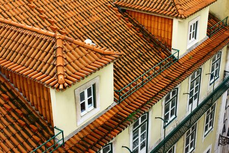 chiado: Detail of an old building at Lisbon, Portugal Stock Photo