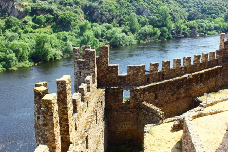 Castle of Almourol at Portugal Editorial