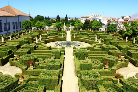 Garden, Castelo Branco, Portugal Stock Photo