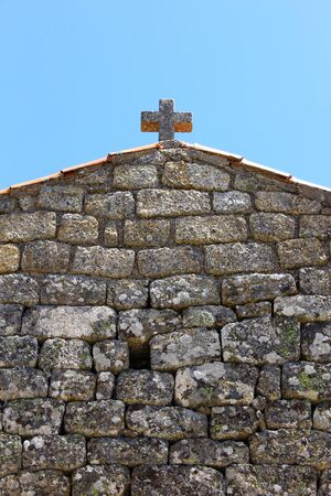 madalena: Detail of a church at Monsanto, Portugal