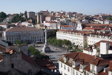 chiado: Rossio square, Lisbon, Portugal