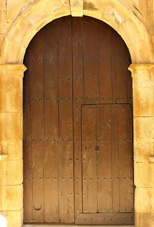 Detail of a door at Alcantara, Spain Imagens