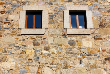 Detail of a window at Caceres, Spain photo