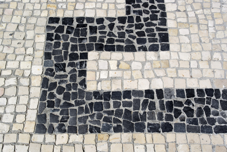 Calcada portuguesa, portuguese pavement photo
