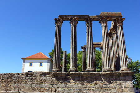 Roman temple, Evora, Portugal photo