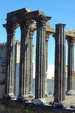 Roman temple, Evora, Portugal photo