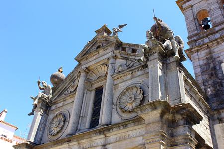 atlantes: Graca church, Evora, Portugal Stock Photo