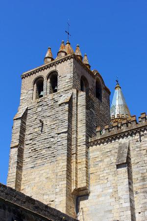 glasswork: Cathedral, Evora, Portugal Stock Photo
