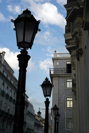 Lamp post, Lisbon, Portugal photo