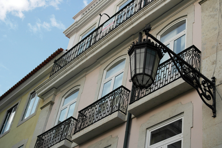 chiado: Lamp post, Lisbon, Portugal
