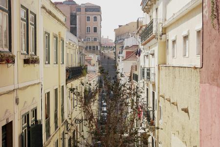 bairro: Detail of a street, Lisbon, Portugal