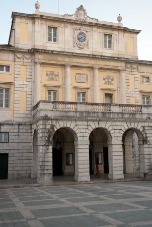 renovate old building facade: Teatro Sao Carlos, Lisbon, Portugal Stock Photo