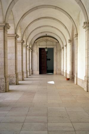 Mafra National Palace cloister, Mafra, Portugal