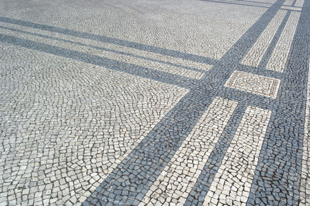 Portuguese pavement, calçada portuguesa photo
