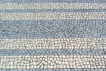 Portuguese pavement, calçada portuguesa Stock Photo