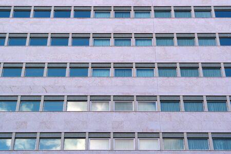 Modern mirrored building