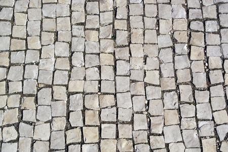 portuguese pavement, Calcada portuguesa Stock Photo