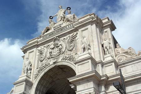 augusta: Augusta street arch, Lisbon, Portugal