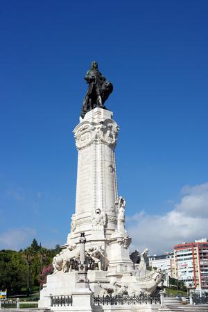 Marques de Pombal, Lisbon, Portugal Editorial