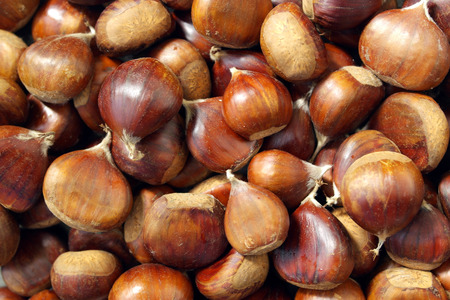 Detail of some chestnuts photo
