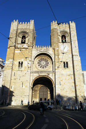 Catedral, Lisboa, Portugal Editorial