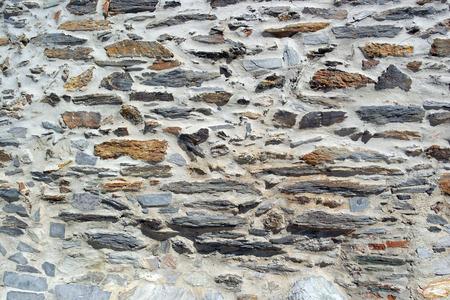 schist: Detail of a schist wall, Monsaraz, Portugal Stock Photo