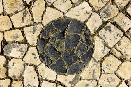 portuguese: Portuguese pavement, Lisbon, Portugal