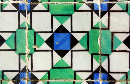 Detail of some portuguese tiles, azulejos
