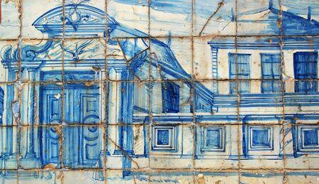 Portuguese Tiles, Soares dos Reis museum, Porto, Portugal Editorial