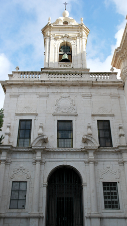 architectural architectonic: Church of Graca, Lisbon, Portugal Stock Photo