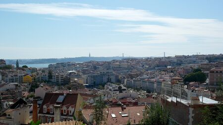 chiado: View over Lisbon, the capital city of Portugal