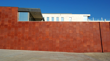 corten: Corten steel wall Stock Photo