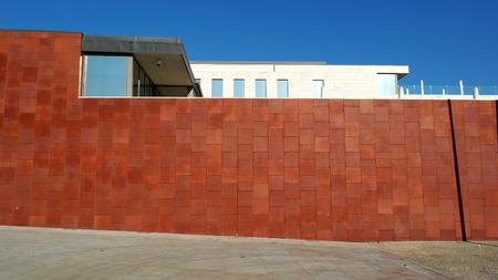 foto de archivo pared de acero corten