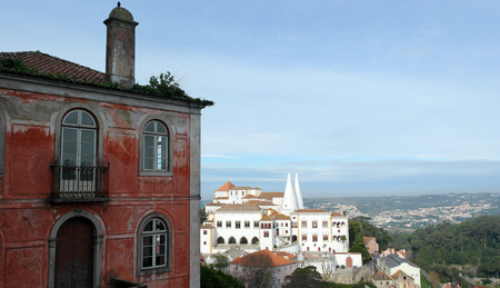portugese: Detail of an old building, Sintra, Portugal Stock Photo
