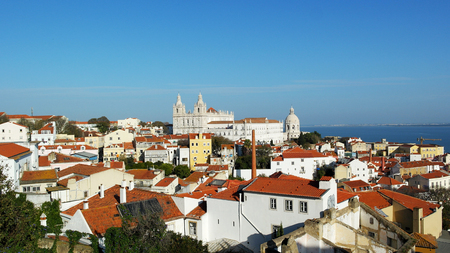 View over Alfama neighbourhood, Lisbon, Portugal Stock Photo