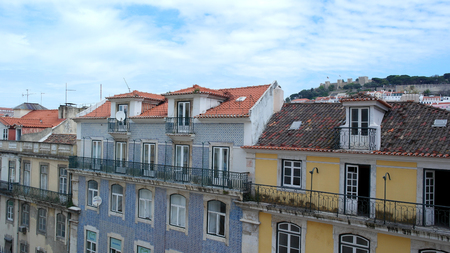 Residential building, Lisbon, Portugal Stock Photo