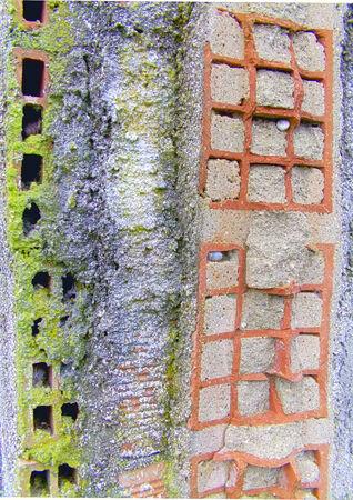 muro rotto: Rotto muro Archivio Fotografico