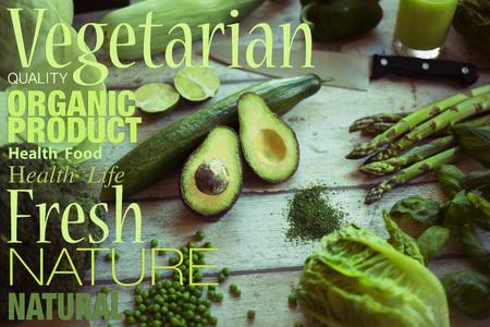 verduras verdes: Fresh green vegetables Foto de archivo