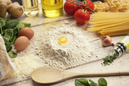 massa: Preparing homemade traditional Italian food Stock Photo