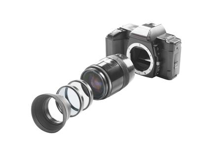 analog camera: Parts of an Analog Camera Stock Photo