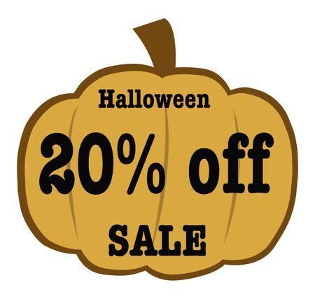 20: Halloween 20 Off sale Banner
