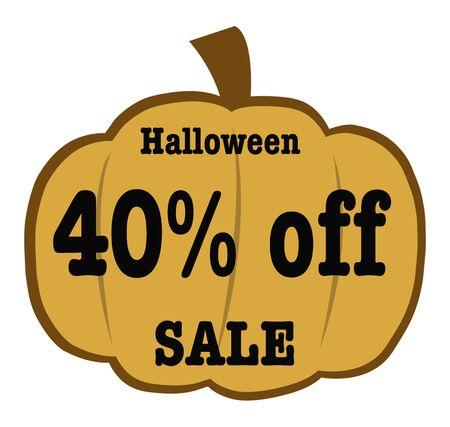 40: Halloween 40 Off sale Banner