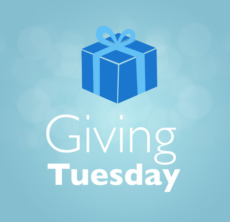 giving: Giving Tuesday message greeting Stock Photo