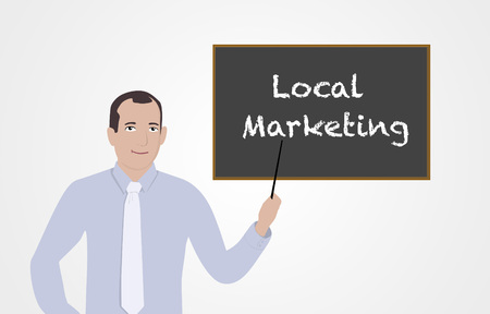 businesses: Businessman supporting local businesses