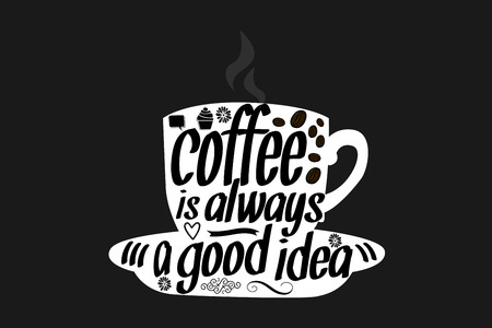 Coffee Quote illustration